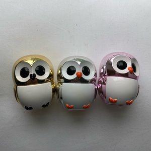 owl lipgloss trio